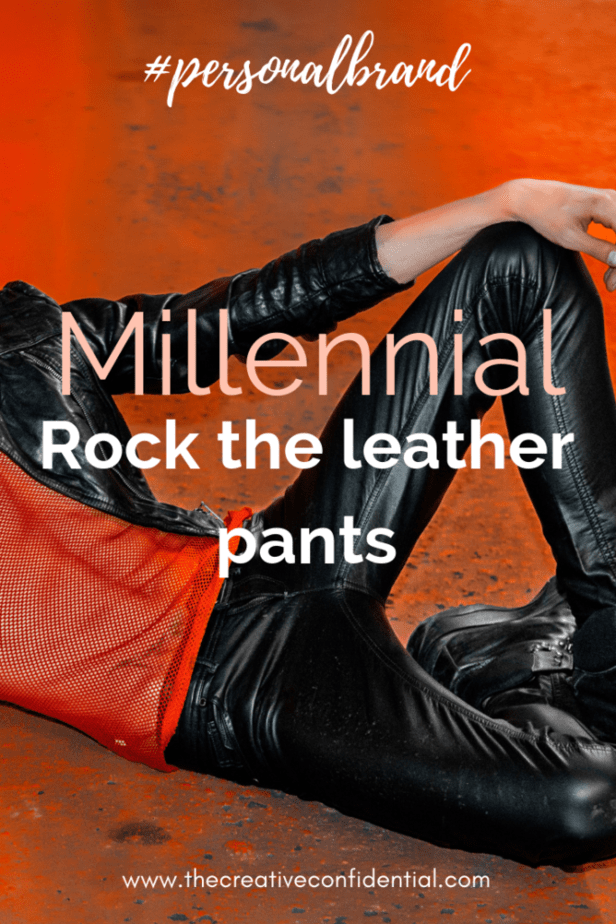 Black-leather-pants-red-background